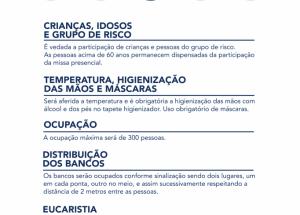Protocolo para participação de Missas em tempo de Pandemia